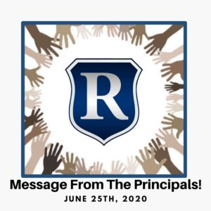 Message from the Principals!